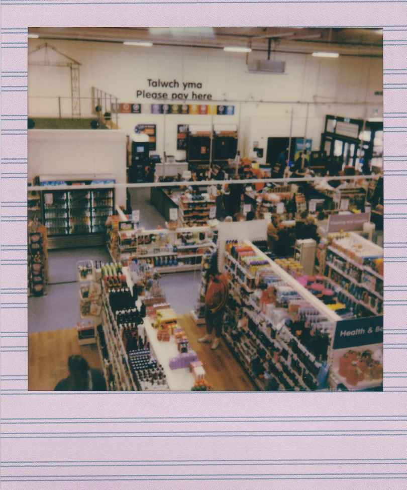polaroid photo of a store